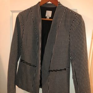 Halogen black and white blazer